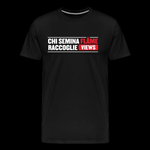 Chi Semina FLAME... - Maglietta Premium da uomo
