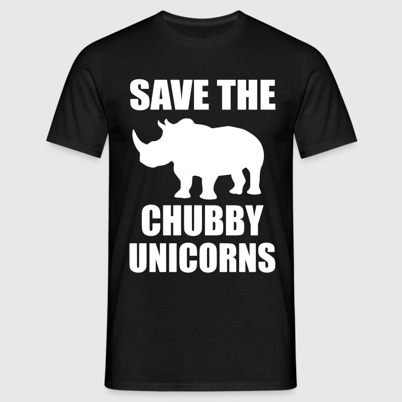 Save The Chubby Unicorn T-Shirts - Men's T-Shirt