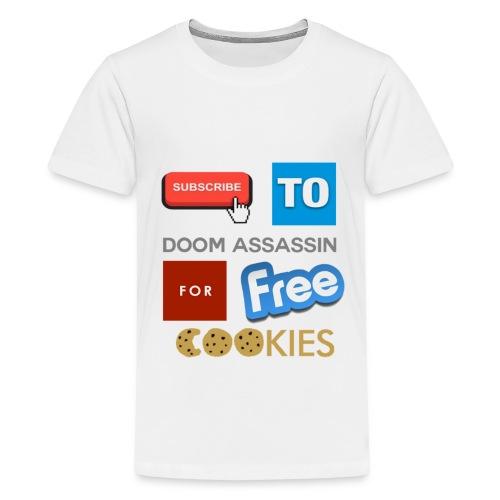 Subscribe To DooM Assassin | Tee - Teenage Premium T-Shirt