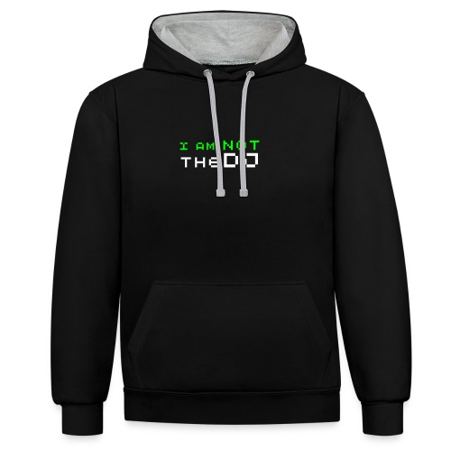 I AM NOT THE DJ - Contrast Colour Hoodie