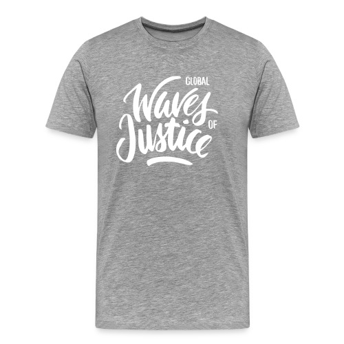 Global Waves of Justice - mannen - Mannen Premium T-shirt