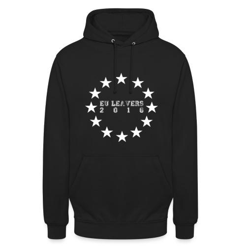 EU LEAVERS 2016 HOODY (WHITE PRINT) - Unisex Hoodie