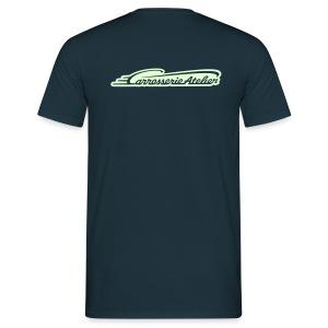 VORDER- UND RÜCKENAUFDRUCK / ImDunkelnLeuchtend – T'Shirt - Männer T-Shirt