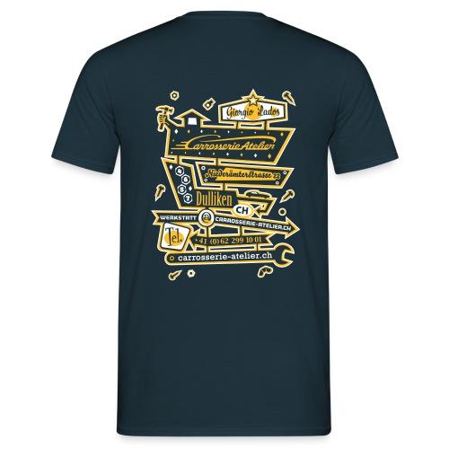 FRONT- UND RÜCKENAUFDRUCK / 2-FARBIG – Herren Tshirt  - Männer T-Shirt