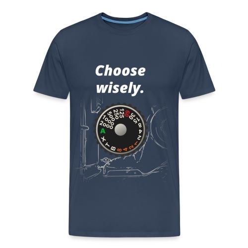 Need for Shutter Speed (Navy Blue) - Männer Premium T-Shirt