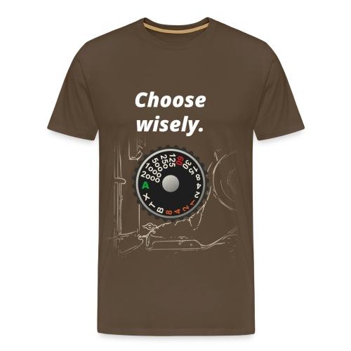 Need for Shutter Speed (Vintage Brown) - Männer Premium T-Shirt