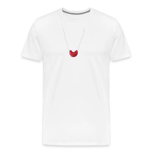 Nariz de payaso colgando. Camiseta Hombre Premium - Camiseta premium hombre