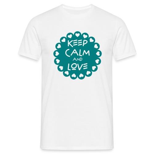 Tee shirt Homme Keep calm and Love - Men's T-Shirt