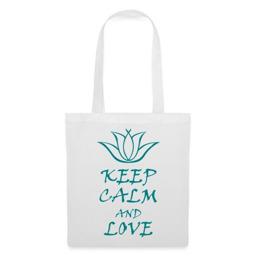 Sac Keep calm and love Fleur de Lotus - Tote Bag
