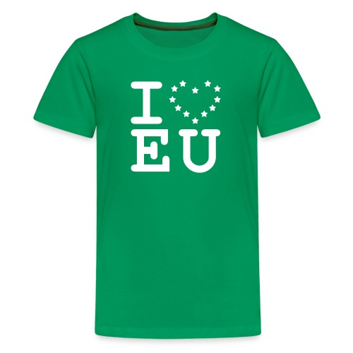 I love EU European Union Brexit - Teenage Premium T-Shirt
