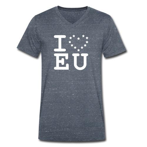 I love EU European Union Brexit - Men's Organic V-Neck T-Shirt by Stanley & Stella