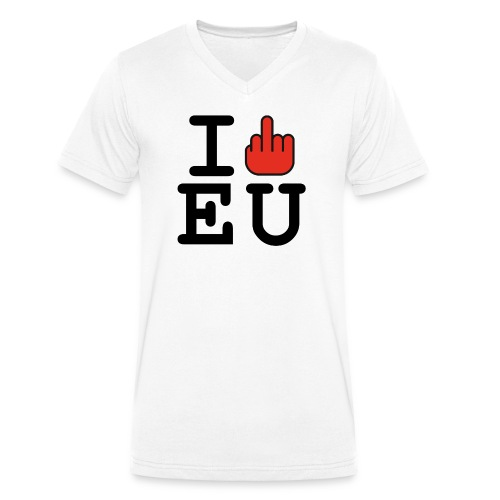 I f*ck EU European Union Brexit - Men's Organic V-Neck T-Shirt by Stanley & Stella