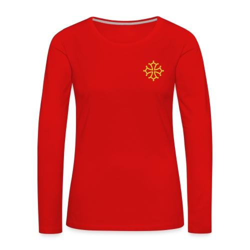 Tshirt manche longue croix occitane - femme - T-shirt manches longues Premium Femme