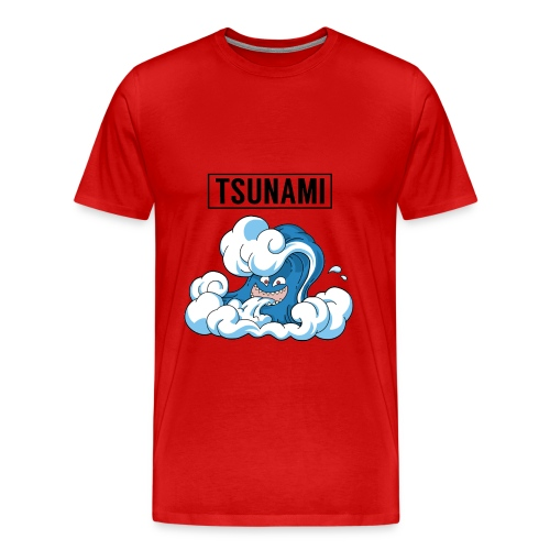 Red - Tsunami Tee - Men's Premium T-Shirt
