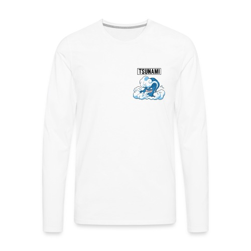 White - Tsunami Long Tee - Men's Premium Longsleeve Shirt