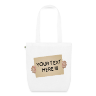 Bags & Backpacks ~ EarthPositive Tote Bag ~ Blank Cardboard Sign Template