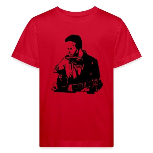 Kinder-Shirt, Kontur Gitarrist, schwarz - Kinder Bio-T-Shirt