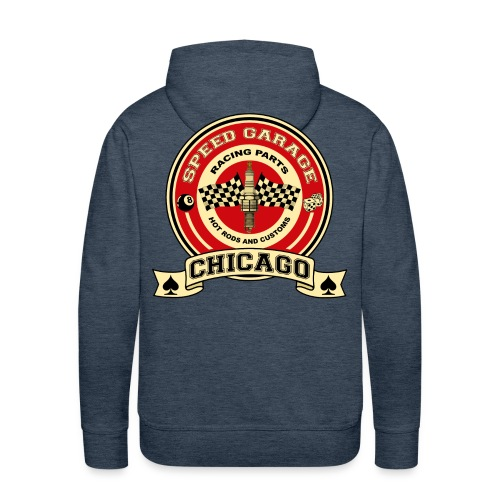 Vintage racing hot rods parts - Men's Premium Hoodie