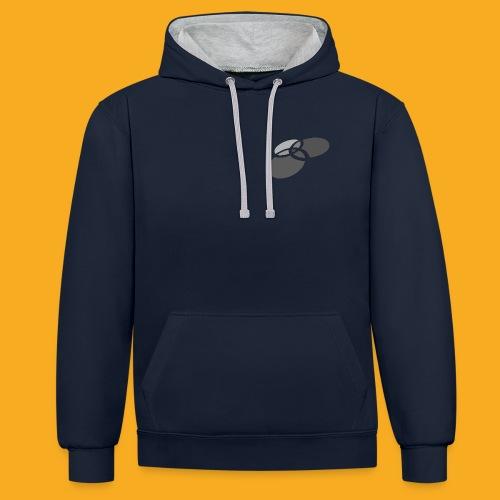 Pullover Navyblau - Kontrast-Hoodie