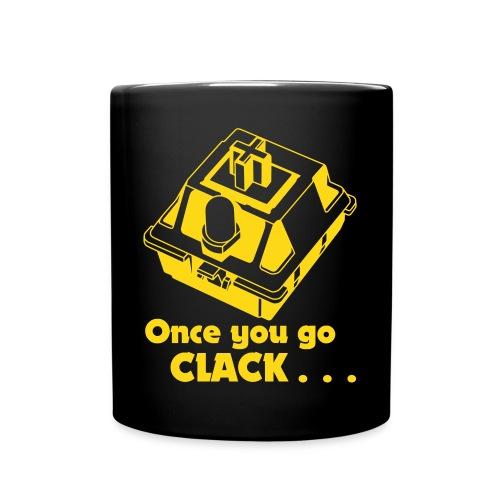Once you go CLACK Tasse - Mechanical Keyboard Enthusiast - Tasse einfarbig