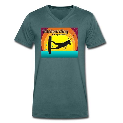 Kite Sundowner Bursch'n V-Shirt - Männer Bio-T-Shirt mit V-Ausschnitt von Stanley & Stella