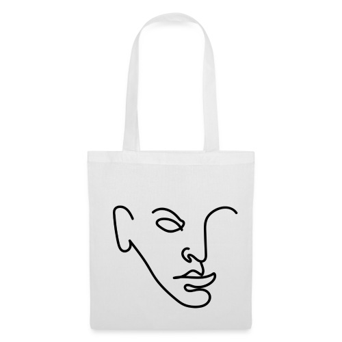 Line Portrait - Tote Bag