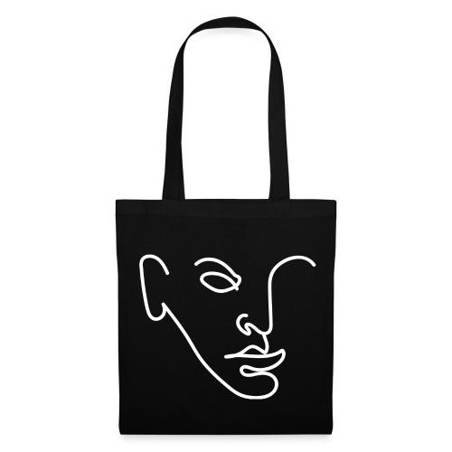 Line Portrait - Tote Bag