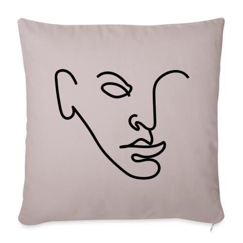 Line portrait - Housse de coussin décorative 44x 44cm
