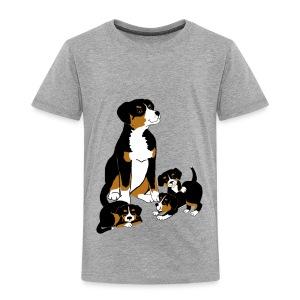 Entlebucher and puppies - Kids' Premium T-Shirt