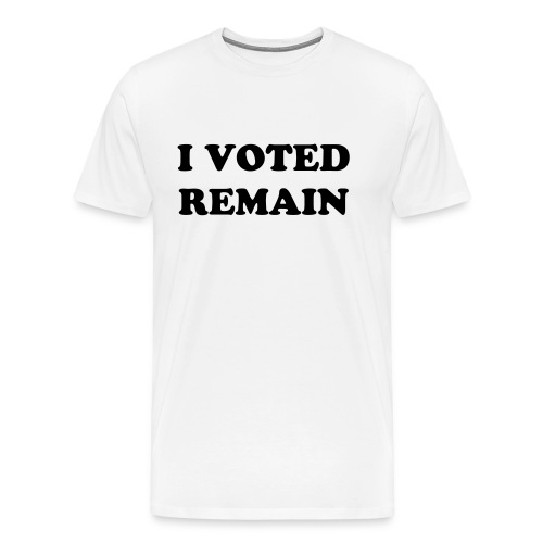 T-SHIRT  I VOTED REMAIN 2 - Men's Premium T-Shirt