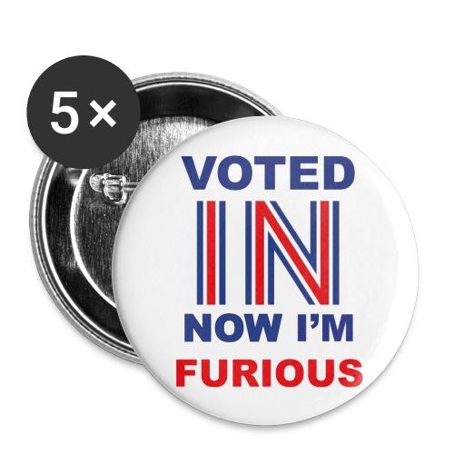 5 'Furious' Buttons - Buttons medium 32 mm
