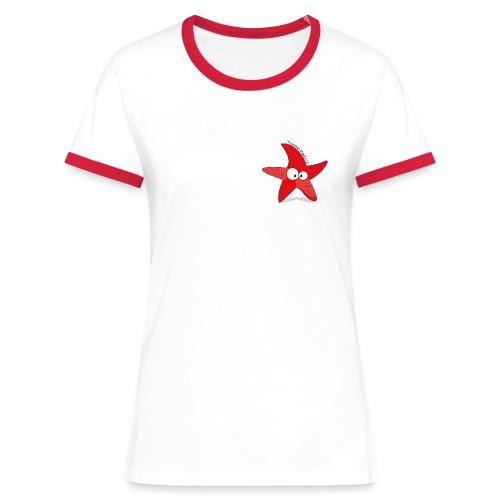 maglietta donna bordini - Maglietta Contrast da donna