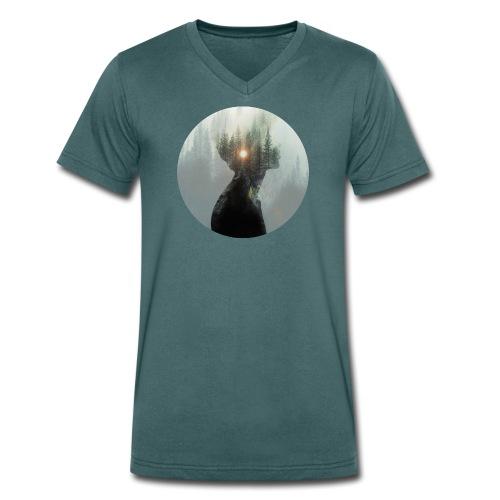 T-Shirt City Lights - Männer Bio-T-Shirt mit V-Ausschnitt von Stanley & Stella