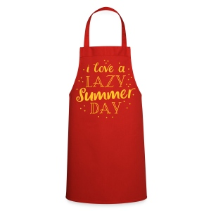 i love a lazy summer day  Aprons - Cooking Apron