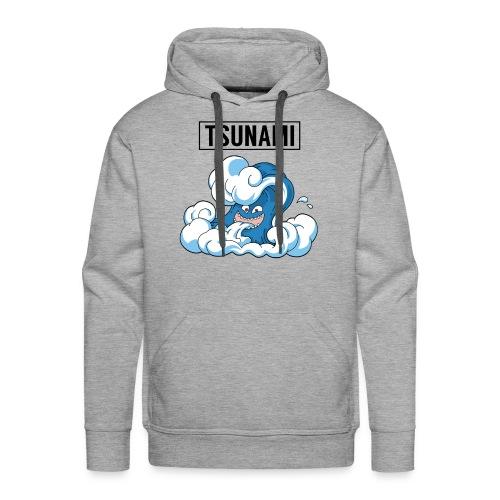 Grey - Tsunami Hoodie - Men's Premium Hoodie