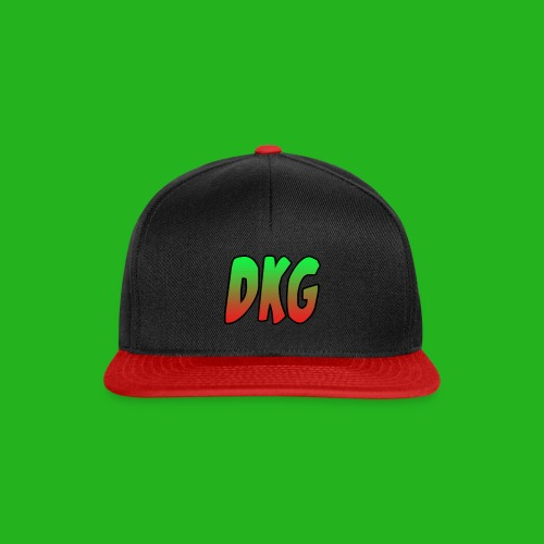 Black and Red DKG Snapback - Snapback cap