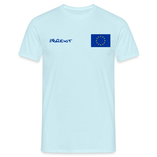 Mens EU Leavers T Shirt - Blue - Men's T-Shirt