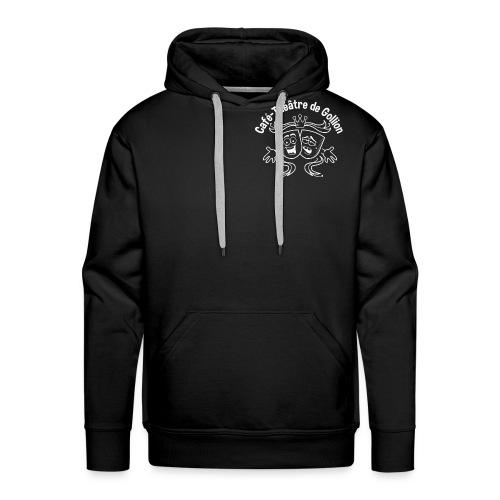 Hoodie-homme-logo blanc - Sweat-shirt à capuche Premium pour hommes