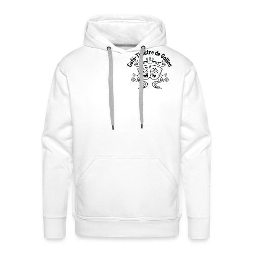 Hoodie-homme-logo noir - Sweat-shirt à capuche Premium pour hommes