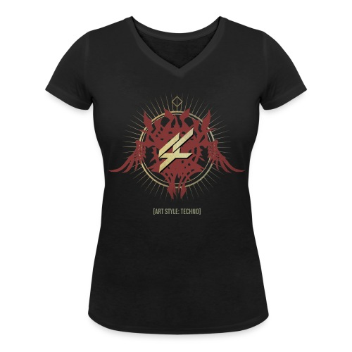 AST01_TT_WOMEN - Women's Organic V-Neck T-Shirt by Stanley & Stella