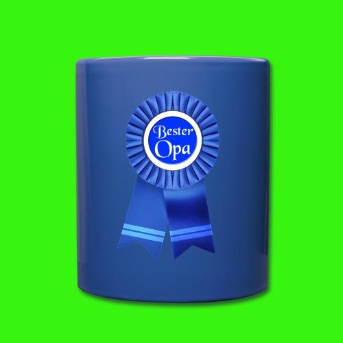 Bester Opa Auszeichnung Tasse - Tasse einfarbig