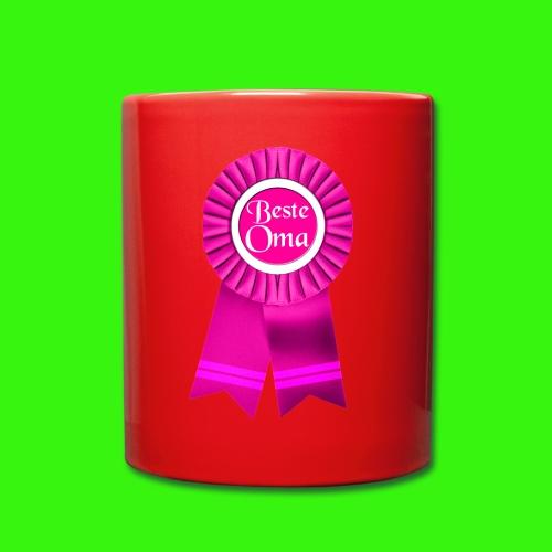 Beste Oma Auszeichnung Tasse - Tasse einfarbig