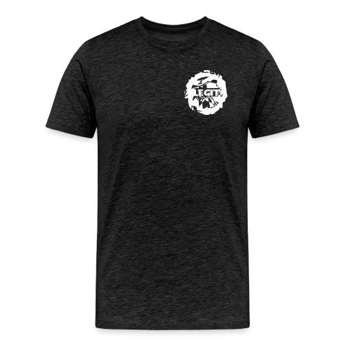 〓LΣGIƬ〓┋▌Shirt  ▌Legit ┋Grau/Schwarz┋ - Männer Premium T-Shirt