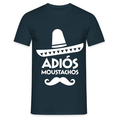 T-Shirt für Männer, Adios Moustachos - Männer T-Shirt