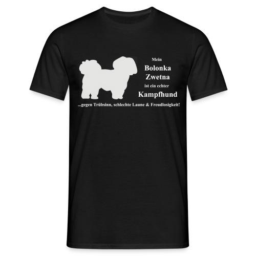 Bolonka Zwetna mit weißer Schrift T-Shirts - Männer T-Shirt