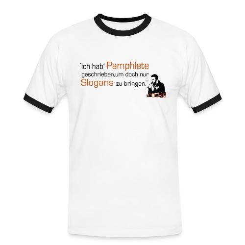 Herren-Shirt mit kellerkind-Zitat - Männer Kontrast-T-Shirt