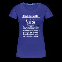 Pflegehinweise 80+ Frauen T-Shirt