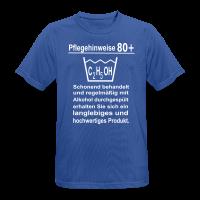 Pflegehinweise 80+ Männer Sport T-Shirt