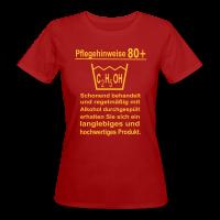 Pflegehinweise 80+ Frauen Bio T-Shirt