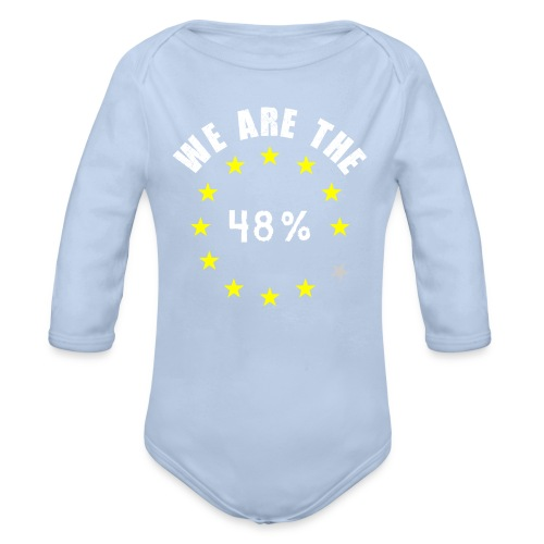 We are the 48% Baby clothes - Organic Longsleeve Baby Bodysuit